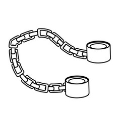 slave chain isolated vector image