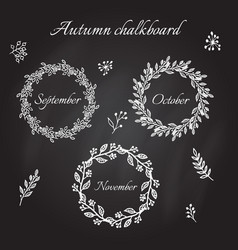 vintage autumn wreaths vector image vector image