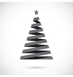 black christmas tree vector image