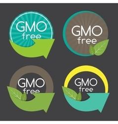 Gmo Free Label Set vector image vector image
