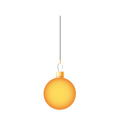 golden ball christmas decoration hanging vector image