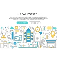 modern line flat design Real estate vector image vector image