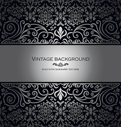 Vintage card royal silver vector image vector image