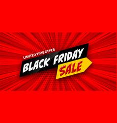 3d comic book cartoon black friday sale banner vector image