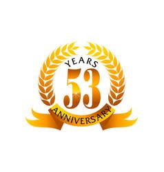 53 years ribbon anniversary vector