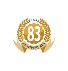 83 years ribbon anniversary vector image vector image