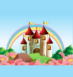 A castle tower background vector