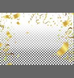 abstract background celebration gold confetti vector image