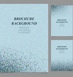 Abstract square tile mosaic brochure template vector