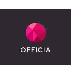Abstract trend polygon letter O logo design vector image