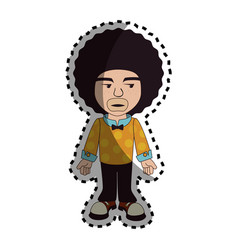 Afro style person character vector