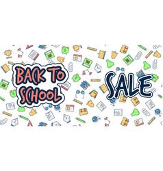 back to school banner sale background vector image