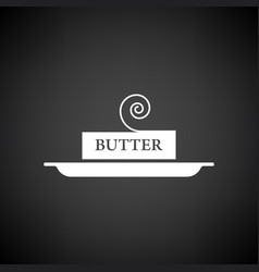 Butter icon vector