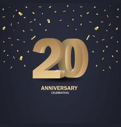 Celebrating anniversary vector