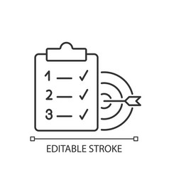 Clear goals linear icon vector