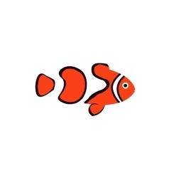 Clown fish icon in flat style vector