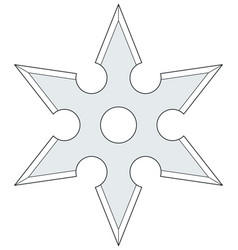 Cold steel shuriken vector