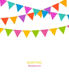 Colorful Buntings Flags Garlands vector image