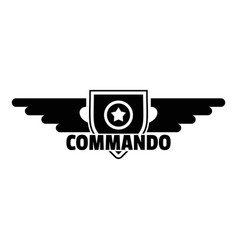 Commando star logo simple style vector
