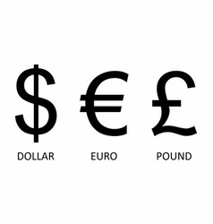 currency symbols set vector image