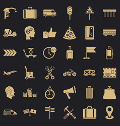 delivery icons set simple style vector image