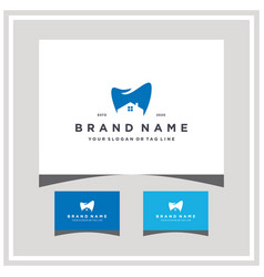 Dental home and business card vector