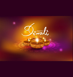 Diwali gold light sparkle shining celebration oil vector