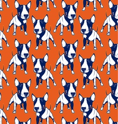 Dog bull background vector