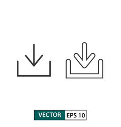 Download icon set isolated on white eps 10 vector