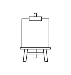 Easel art icon vector