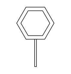 Empty road sign vector