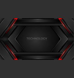 Futuristic technology hexagonal shape background vector