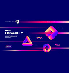 geometric shapes composition design with gradient vector image
