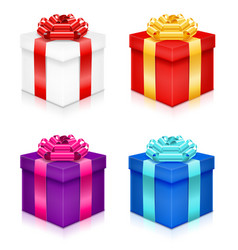 gift box with bow and ribbon stock vector image