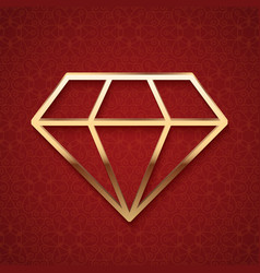 Golden Diamond Silhouette vector
