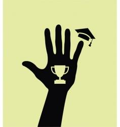Graduated hand vector