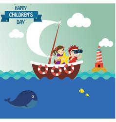 Happy children day background universal vector