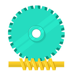 helical gear icon cartoon style vector image