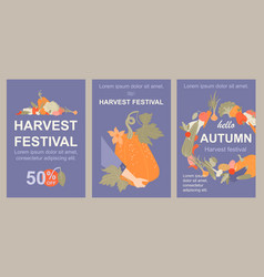 holiday harvest images with vegetables and fruits vector image