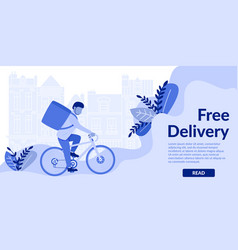 horizontal flat bannerr free delivery read vector image