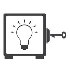 idea bulb in the safe vector image