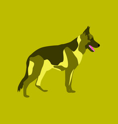 In flat style german shepherd vector