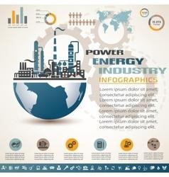 industry infographics template set industrial vector image