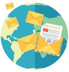 international postal system worldwide delivery vector image