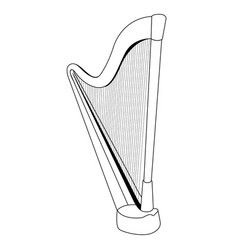 isolated harp outline vector image