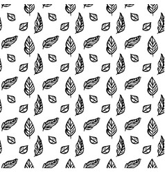 leaf brush seamless pattern vector image