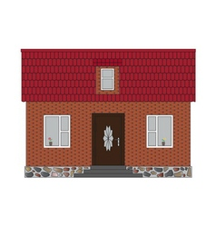 Little house brick vector
