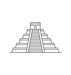 maya pyramid icon vector image