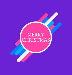 merry christmas geometric elements text in a vector image