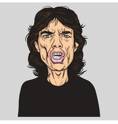 Mick Jagger of the Rolling Stones Portrait vector